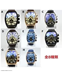 335c70c7d0 CASENO 時計 ウォッチ スポーツ 自動巻き 機械式腕時計 クロノグラフ メンズ 革バンド ブロンズ トゥール