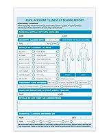 学校。 A5事故報告書、2部、(複製)、1冊あたり50セット