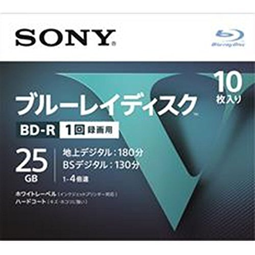 ソニー SONY 25GB 4倍速10枚 10BNR1VLPS4 BD-R BDR...