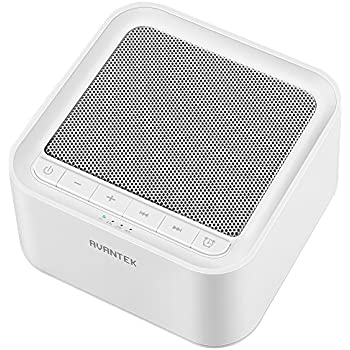 AVANTEK 快眠グッズ ホワイトノイズマシン USB給電 20種のサウンド 30段階の音量幅調整 タイマー付き 快適な入眠に 高品質スピーカー メモリー機能 赤ちゃん 大人 旅行 勉強 仕事 昼寝適応 ホワイト