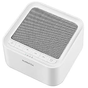 AVANTEK ホワイトノイズマシン 20種サウンド 30段階音量幅 7時間自動オフタイマー付き 快眠グッズ ホワイト