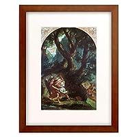 ウジェーヌ・ドラクロワ Ferdinand Victor Eugène Delacroix 「Jacob wrestling with the Angel.」 額装アート作品