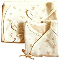 100% Organic Baby Gift Set_ Newborn Long Sleeve Side Snap Shirt, Swaddle Blanket by Gift set