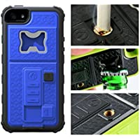 RONNEY'S Multifunctional With Cigarette Lighter & Bottle/Beer Opener Case Cover for IPhone 5/5S/5SE BLUE