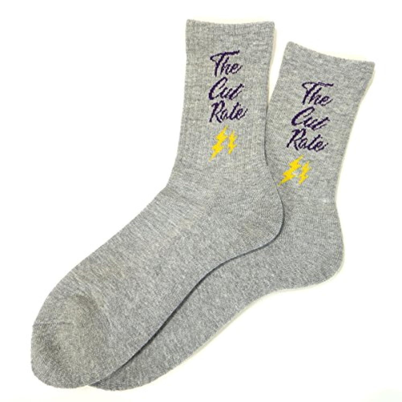 (カットレイト) CUTRATE THUNDER BOLT SOCKS ソックス 靴下 クルーソックス ハイソックス 稲妻 サンダーボルト
