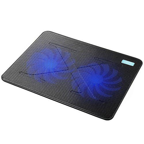 AVANTEK 冷却ファン 冷却パッド 超静音ファン ノートパソコン用 PS3 PS4 横置き用 USB接続 1000 RPM 17インチまで対応 デュアル160mm (2ファン) CP_02