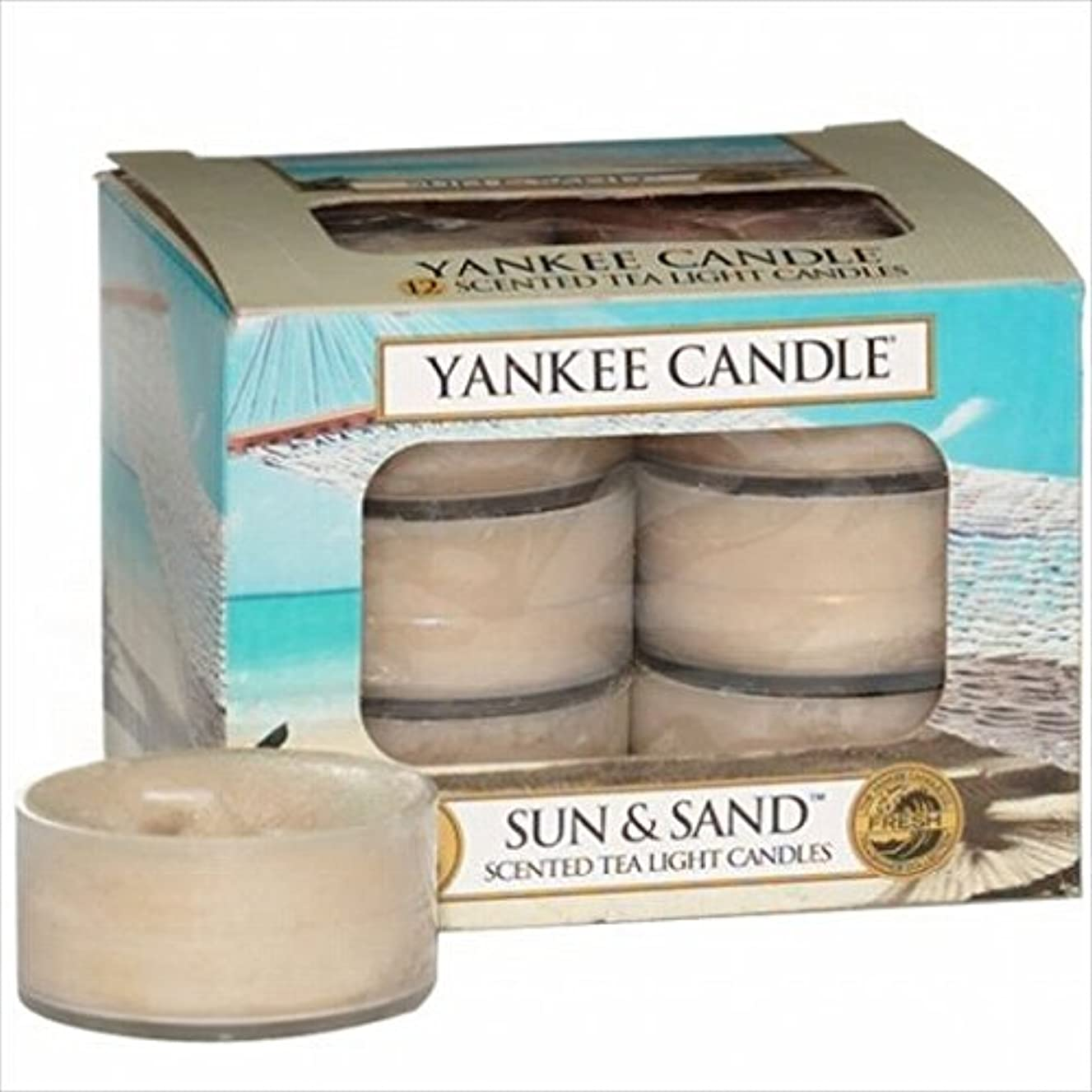 ボリューム小数オデュッセウスヤンキーキャンドル( YANKEE CANDLE ) YANKEE CANDLE クリアカップティーライト12個入り 「 サン&サンド 」