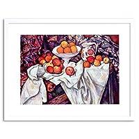 Painting Cezanne Still Life Apples Oranges Framed Wall Art Print