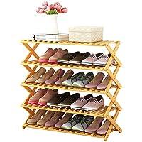 靴のラック単身木製のシンプルなマルチレイヤーシンプルでモダンな家庭用シューズラックシューボックス収納ラック棚 (色 : 5 layer, サイズ さいず : 70cm)
