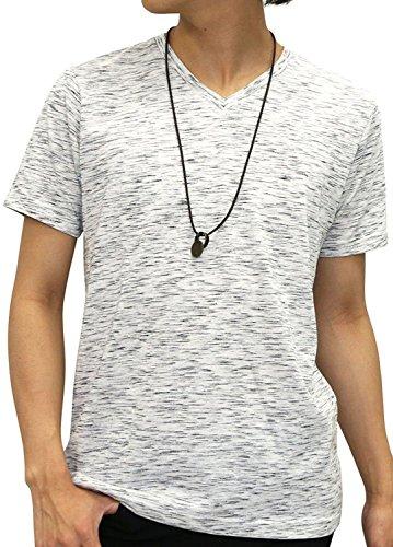 [オーバルダイス] Tシャツ ネックレス付き セット 半袖 ゆる Vネック 無地 メンズ