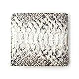 [ロダニア] RODANIA 二つ折り財布 メンズ パイソン 蛇革 ショートウォレット ナチュラル 【SNJN0012】