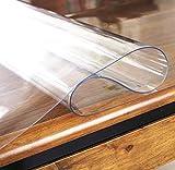yasushoji クリア デスク マット 長方形 防水 傷や汚れに強い メモ書き 便利 (60cm×120cm) (透明1.5mm)
