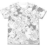 南国少年パプワくん ナマモノ オールプリントTシャツ ホワイト サイズ:L