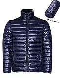 (レスマート)Lesmart メンズ ダウンジャケット 軽量 アウトドア 登山 防寒 防風 ウルトラライト コート 大きいサイズ 4XL 紺青2
