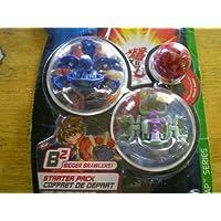 Bakugan Bakuswapスターターパック(ブルーObrus、グレーlarslion、レッドMysteryボール)