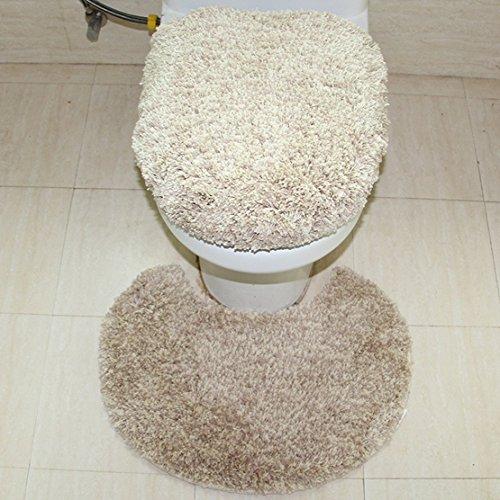 [해외]Cute Minor 화장실 매트 세련된 화장실 매트 2 종 세트 흡수 속건 항균 방취 가공 항균 방취 샤기 화장실 매트/Cute Minor toilet mat fashionable toilet mat 2 set water absorption quick drying antibacterial deodorant processing antibacteri...