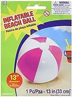 "Amscan Inflatable Beach Ball inピンク水泳パーティー水アクティビティおもちゃ&プール装飾、ピンク、13"""