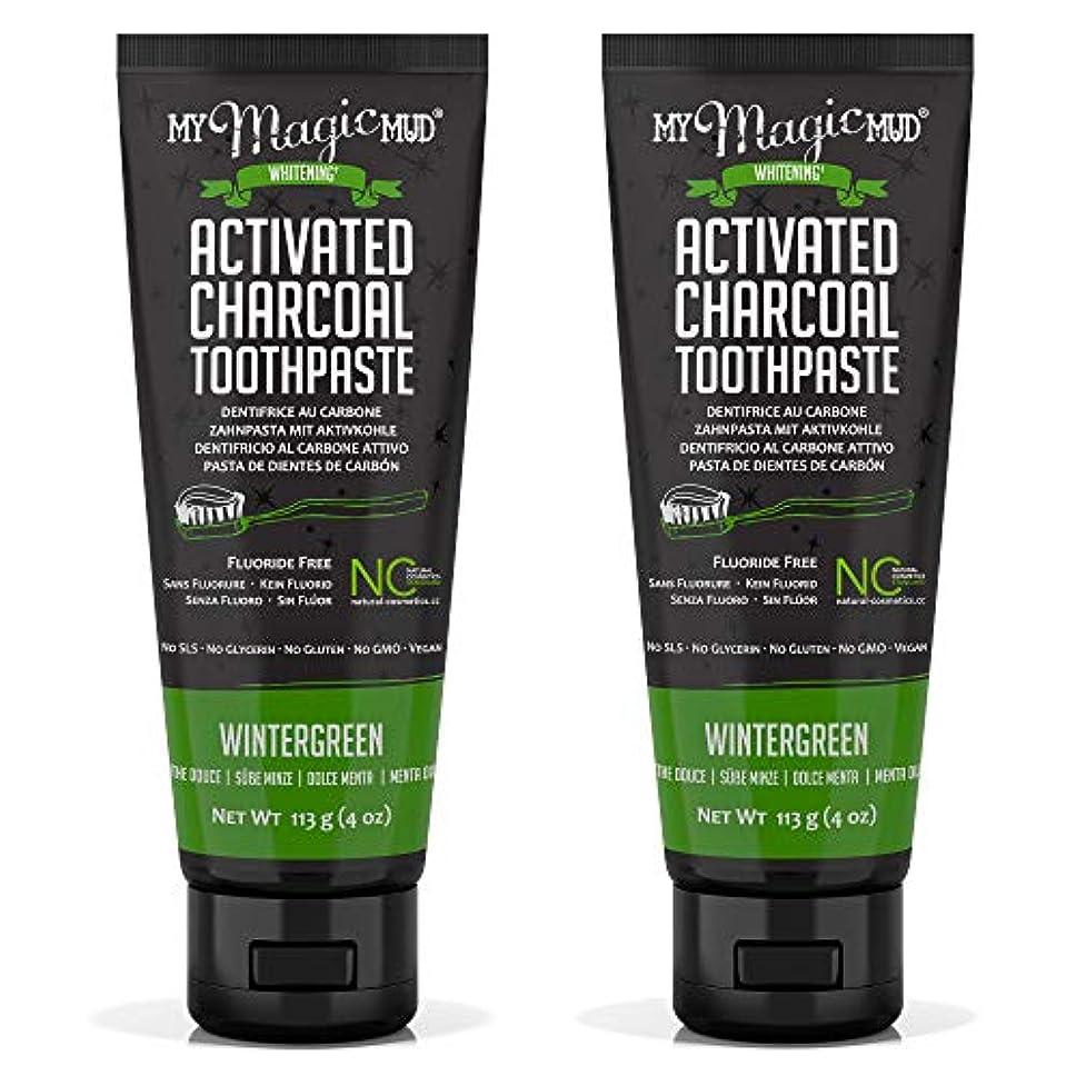 突進宿命山岳My Magic Mud Activated Charcoal Toothpaste (Fluoride-Free) - Wintergreen 113g/4oz並行輸入品