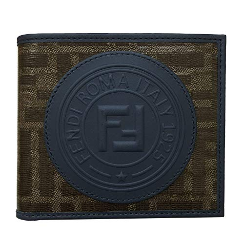 FENDI (フェンディ)二つ折り札入れ 財布 メンズ フェンディスタンプ アップリケ PVC×レザー 7M0169 A5K4 F1657 [並行輸入品]
