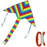 TOAOB丈夫なレインボーフライヤーキッズと大人のための凧 - 巨大なサイズと最高の簡単なフライヤー巨大なレインボーカイト