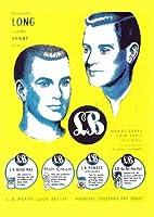 ピカデリー・ヴィンテージ雑誌広告(リプリント/A4サイズ×6枚組)理容 バーバー ポスター 1940's 1950's 1960's BARBER ポマード