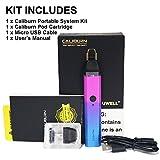 【正規品】UWELL Caliburn 11W POD KIT 注油を繰り返すことのできる煙弾 電子タバコ スターターセット (パープル purple)