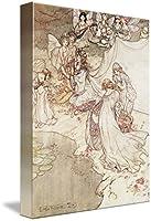 """壁アート印刷entitled Illustration For a Fairy Tale、Fairy Queen Coverin by the FineアートMasters 36"""" x 48"""" 5197381_5_can"""