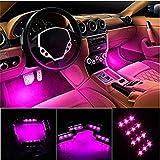 SJBH カー内部LED装飾ライト(ピンク)、防水・高輝度、ネオンシガーソケット、これ一つで車内の雰囲気が一気に変わります!防水LEDテープライト 低消費電力で省エネ, LEDイルミネーションライト使用することにより低消費電力で長寿命、長くお使いいただけます。電圧:DC12V