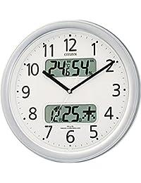 CITIZEN (シチズン) 電波 掛け時計 ネムリーナカレンダーM01 シルバーメタリック 4FYA01-019