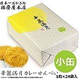 日本一おかき処 播磨屋本店 華麗満月 カレーせんべい 小缶(1枚×24袋入)#92
