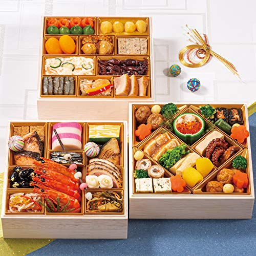 富山 五万石千里山荘 おせち料理 2020 三段重 45品 盛り付け済み 冷蔵おせち 約4人前 お届け日:12月31日