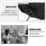 TAIKUU 折りたたみ傘 軽量 丈夫な10本骨 Teflon超撥水 コンパクト 折畳み傘 晴雨兼用 手動開閉 おりたたみ傘 傘カバー付き 270g T10 (ブラック) 画像