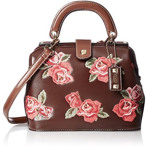 [ビバユー] バラ刺繍口枠2wayバッグ ローザ 5102561 DBR ダークブラウン