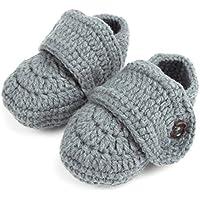 baynneソックスベビー男の子新生児幼児Hand Crochet靴ブーティ