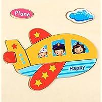 HuaQingPiJu-JP 子供のための素敵な木製の就学前の平面認知ボード教育パズル