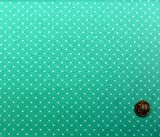 Amazon.co.jp水玉ブロード生地・ 小玉(グリーン地に白水玉)