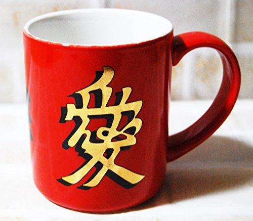 【マグカップ】花の慶次マグカップ レッド  D9-2