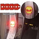 【Maidao】適合多数 SUBARU スバル 汎用 ドア ロック ストライカー カバー Gタイプ+赤 高輝度 反射テープ 4枚 スバル XV GP系/VM4 VMG レヴォーグ / BM系 BR系 レガシィ / GP系 GJ系 インプレッサ