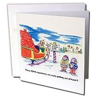リッチDiesslins Cartoon日のクリスマスTCDC–Kevin Edler CartoonについてサンタとOSHA forクリスマス–グリーティングカード Set of 12 Greeting Cards