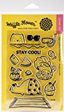 Waffle Flower Crafts 271106 Stay Cool - Clear Stamps 4X6
