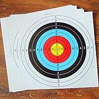 20個アーチェリーターゲットペーパー40x 40cm SpotsトレーニングShooting用紙Hunting