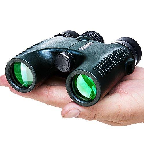 USCAMEL®HD 10x26強力な長距離2000 m双眼鏡、プロ級折り畳み式広角視界望遠鏡、 軍用狩猟 グリーン
