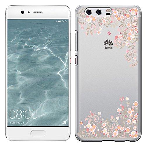 「Breeze-正規品」iPhone ・ スマホケース ポリカーボネイト [透明-Pink] HUAWEI P10 ケース ファーウェイ p10 カバー SIMフリー カバー 液晶保護フィルム付 全機種対応 [P10]