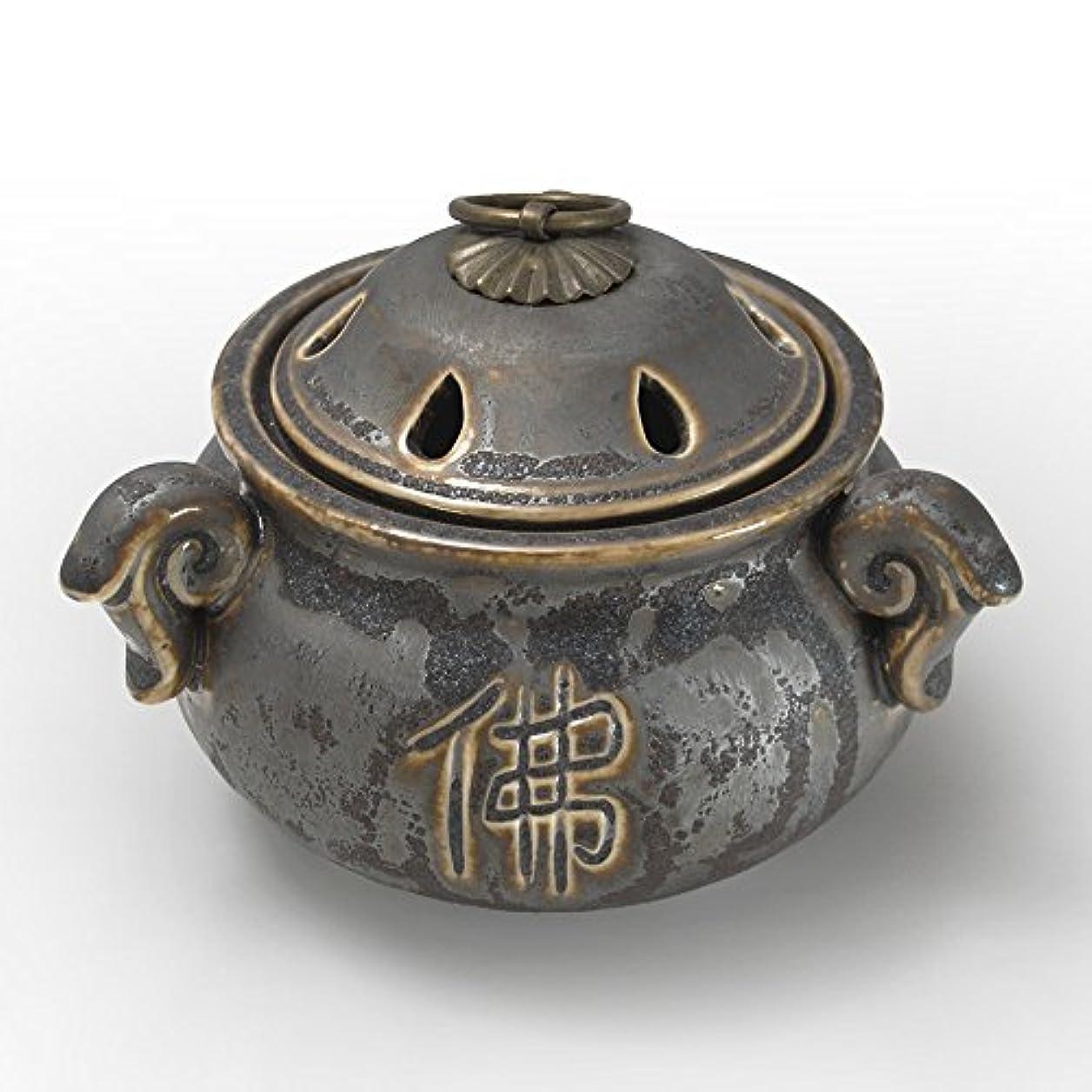 波紋形容詞教義陶器香炉 アンティークデザイン