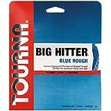 Tourna Big Hitter Blue Rough Maximum Spin Polyester Tennis String, Unisex, Tourna Big Hitter Blue Rough, BHBR-16, Blue, 16g Set