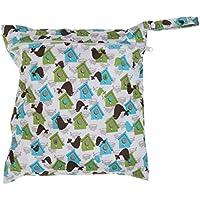 SONONIA 防水 再利用可能 赤ちゃん ジッパー おむつ袋 ウェット ドライ 水泳 トラベル トート バッグ 収納バッグ 全11色 選べる - #4