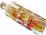 【Amazon.co.jp 限定】日本製 ハーバリウム プリザーブドフラワーLira 高さ16.7cm 角瓶 (千鳥草・ミックス) 贈り物 プレゼント
