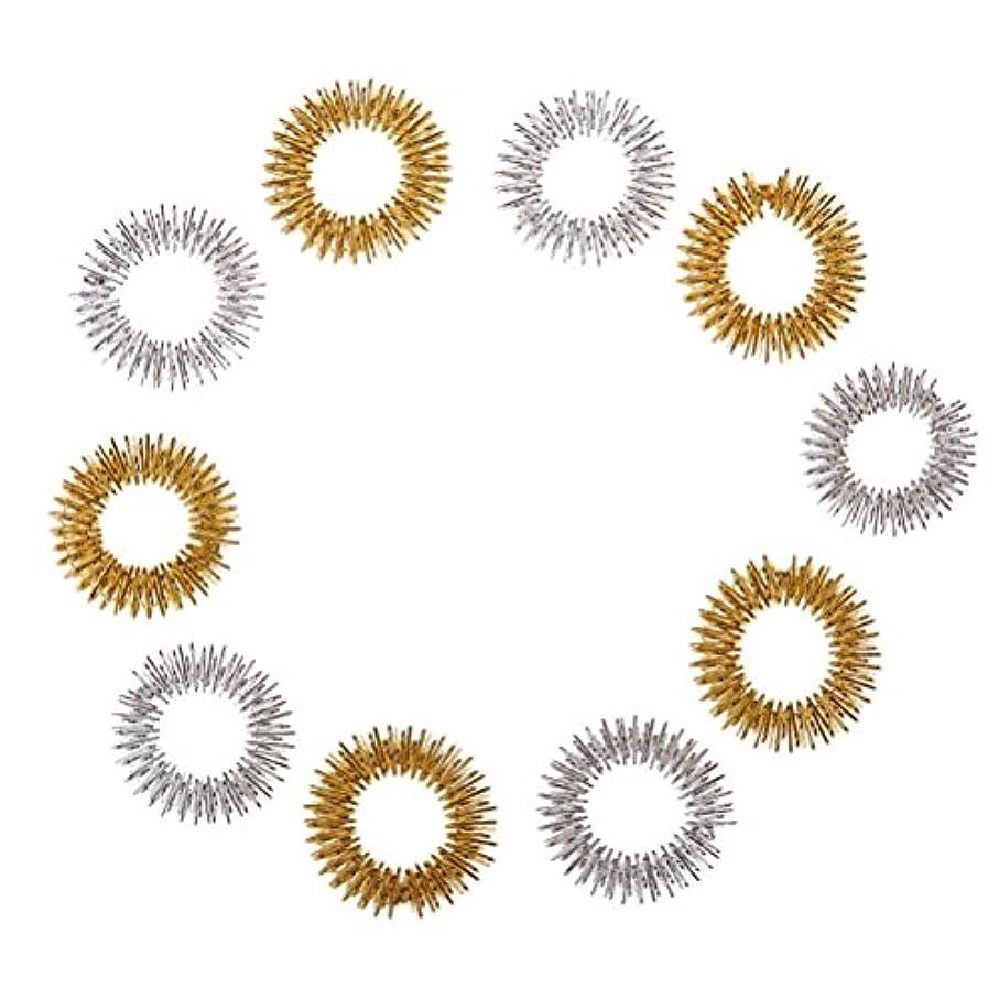 魔法韻東Healifty 10個指圧マッサージリング子供のための指の循環リング十代の若者たちの大人(ランダムカラー)
