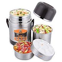 食品容器真空フラスコボトルシチュークックスープ食品、ステンレス鋼食品収納容器弁当箱熱保冷断熱,2.0L