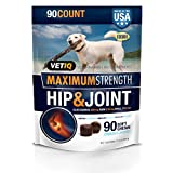VetIQ Maximum Strength Hip and Joint Supplement for Dogs - Chicken Flavored Soft Chews, 11.1 oz